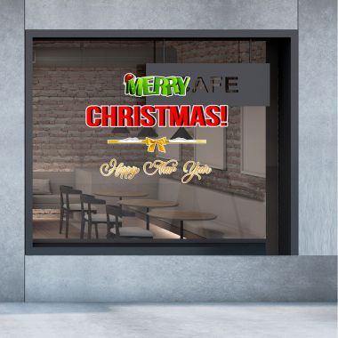 Decal chữ Merry Christmas and happy new year